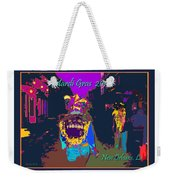 Who Dat At Night In The Quarter Weekender Tote Bag