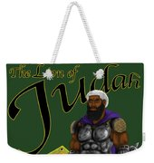 Who Shall Rouse Judah-yellow Trim Weekender Tote Bag