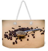 Whole Black Peppercorns With A Heaping Teaspoon Of Ground Pepper Weekender Tote Bag