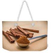 Whole Cinnamon Sticks With A Heaping Teaspoon Of Powder Weekender Tote Bag