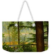 Whonnock Lake Through The Trees Weekender Tote Bag