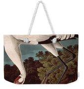 Whooping Crane Weekender Tote Bag by John James Audubon