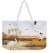 Whooping Cranes-jp3151 Weekender Tote Bag