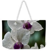 Whte Orchids Weekender Tote Bag