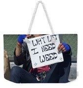 Why Lie Weekender Tote Bag