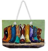 Why Real Men Want To Be Cowboys Weekender Tote Bag