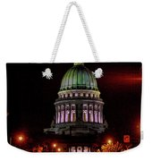 Wi State Capitol From West Washington Ave Weekender Tote Bag