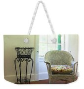 Wicker Chair And Planter Weekender Tote Bag