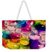 Wicker Marble Rainbow Fractal 2 Weekender Tote Bag
