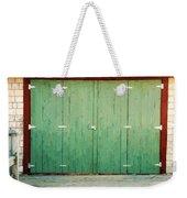 Wide Barn Door Weekender Tote Bag