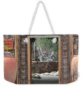 Wider Shot Stone Garden Wall And Clay Urns Weekender Tote Bag