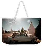 Wigwam Motel Classic Car #8 Weekender Tote Bag