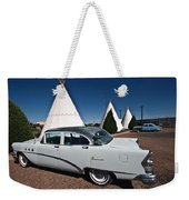 Wigwam Motel Classic Car Weekender Tote Bag