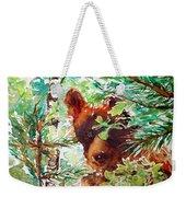Wild Bear Peek-a-boo Watercolour Weekender Tote Bag
