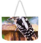 Wild Birds - Downy Woodpecker  Weekender Tote Bag