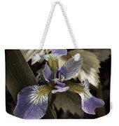 Wild Blue Iris Weekender Tote Bag