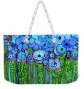 Wild Blue Poppies Weekender Tote Bag