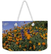 Wild California Poppies And Lupine Weekender Tote Bag