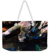 Wild Cat Drinking Weekender Tote Bag