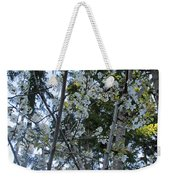 Wild Cherry Tree Blossoms On Verona Weekender Tote Bag