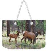 Wild Elk Baby And Mom Weekender Tote Bag