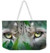 Wild Eyes - Snow Leopard Weekender Tote Bag