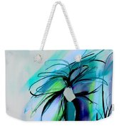 Wild Flower Abstract Weekender Tote Bag