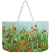 Wild Flowers Abstract Weekender Tote Bag