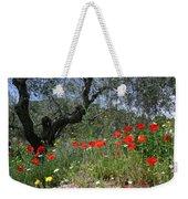 Wild Flowers And Olive Tree Weekender Tote Bag