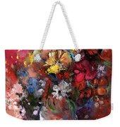 Wild Flowers Bouquet In A Terracota Vase Weekender Tote Bag