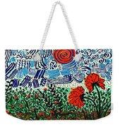 Wild Flowers Under Wild Sky Weekender Tote Bag