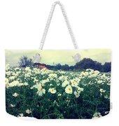 Wild Flowers White Weekender Tote Bag