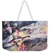 Wild Geese Flying In A Snow Storm Weekender Tote Bag