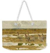 Wild Geese In The Marsh Weekender Tote Bag