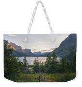 Wild Goose Island Sunset - Glacier National Park Montana Weekender Tote Bag