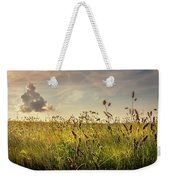 Wild Grass And A Lonely Cloud Weekender Tote Bag