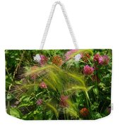 Wild Grasses And Red Clover Weekender Tote Bag