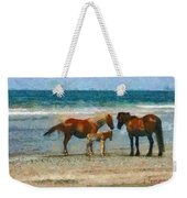 Wild Horses Of The Outer Banks Weekender Tote Bag