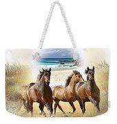 Wild Horses On The Beach Weekender Tote Bag
