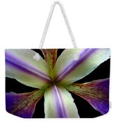Wild Iris Macro On Black Weekender Tote Bag