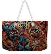 Wild Leopard Weekender Tote Bag