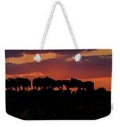 Wild Mustangs At Sunset Weekender Tote Bag