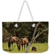 Wild Ponies In Corolla Weekender Tote Bag