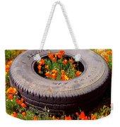 Wild Poppies Recycled Weekender Tote Bag