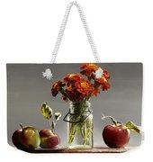 Wild Red Apples With Marigolds Weekender Tote Bag