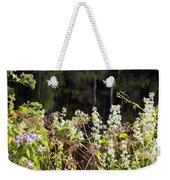 Wild Riverside Weeds And Flowers Weekender Tote Bag