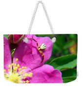 Wild Rose And The Spider Weekender Tote Bag