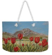 Wild Tulips In Central Crete Weekender Tote Bag