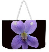Wild Violet On Black Weekender Tote Bag