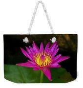 Wild Water Lily Weekender Tote Bag